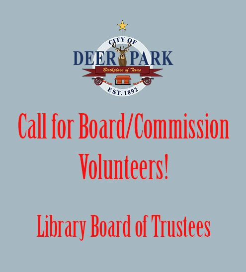 Board-Commission volunteer - Library