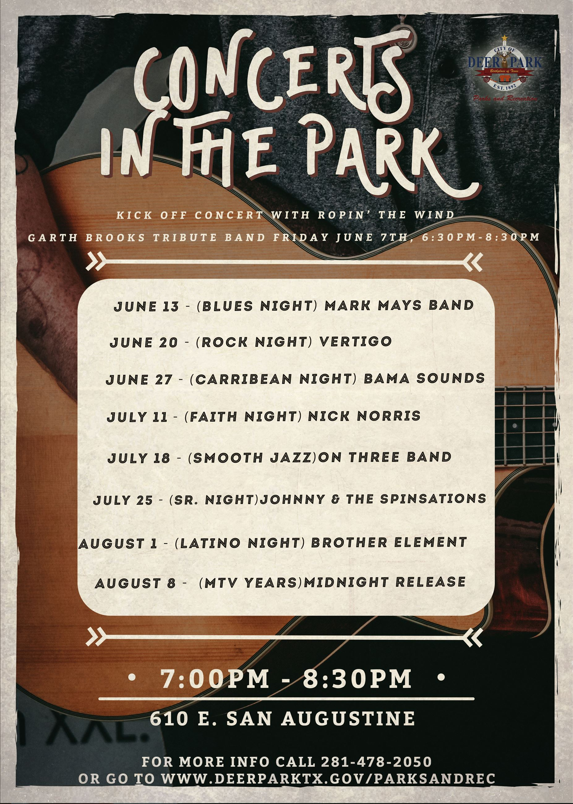 Concerts in the Park 2019