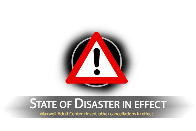 Public Notice slide - State of Disaster