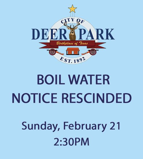 Boil water notice rescinded - Graphic
